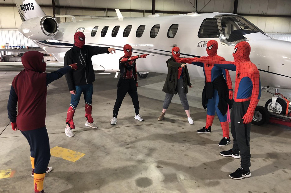 Spider Man Costumed Cadets
