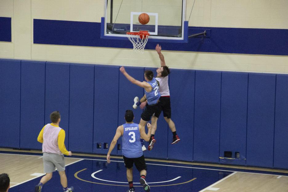 Basketball game in progress
