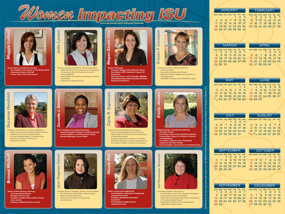 2009 Women Impacting ISU Calendar