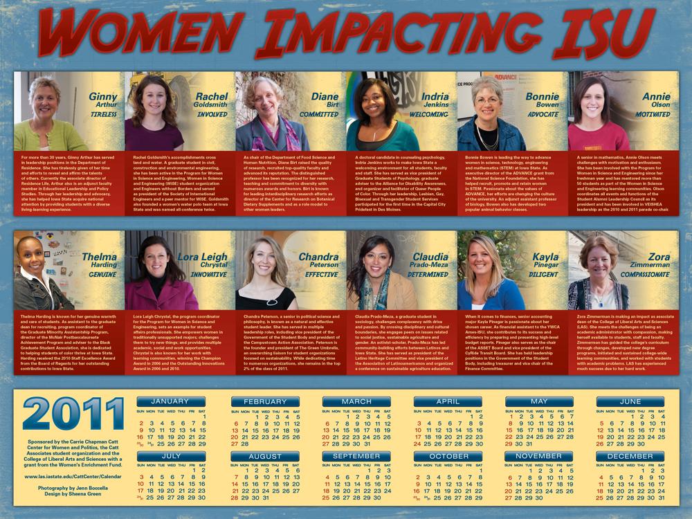 2011 Women Impacting ISU Calendar