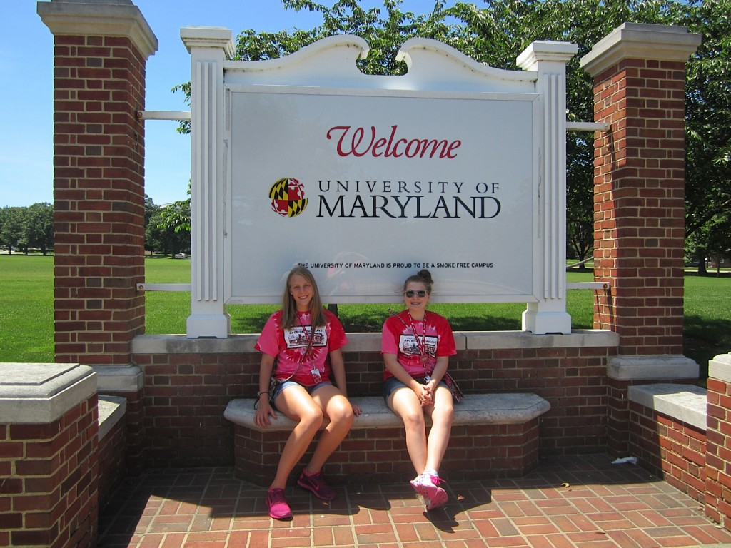 Higgins and Cotton tour the University of Maryland