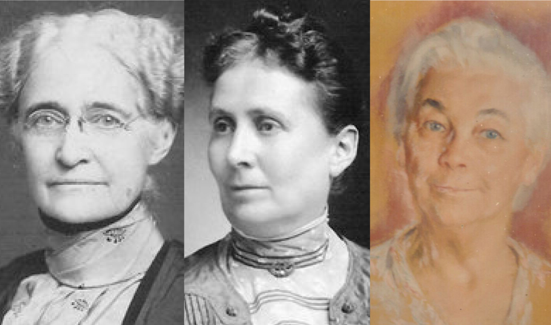 Mary Jane Whitely Coggeshall, Rowena Edson Stevens and Mary Bertha Beers Van Alstine