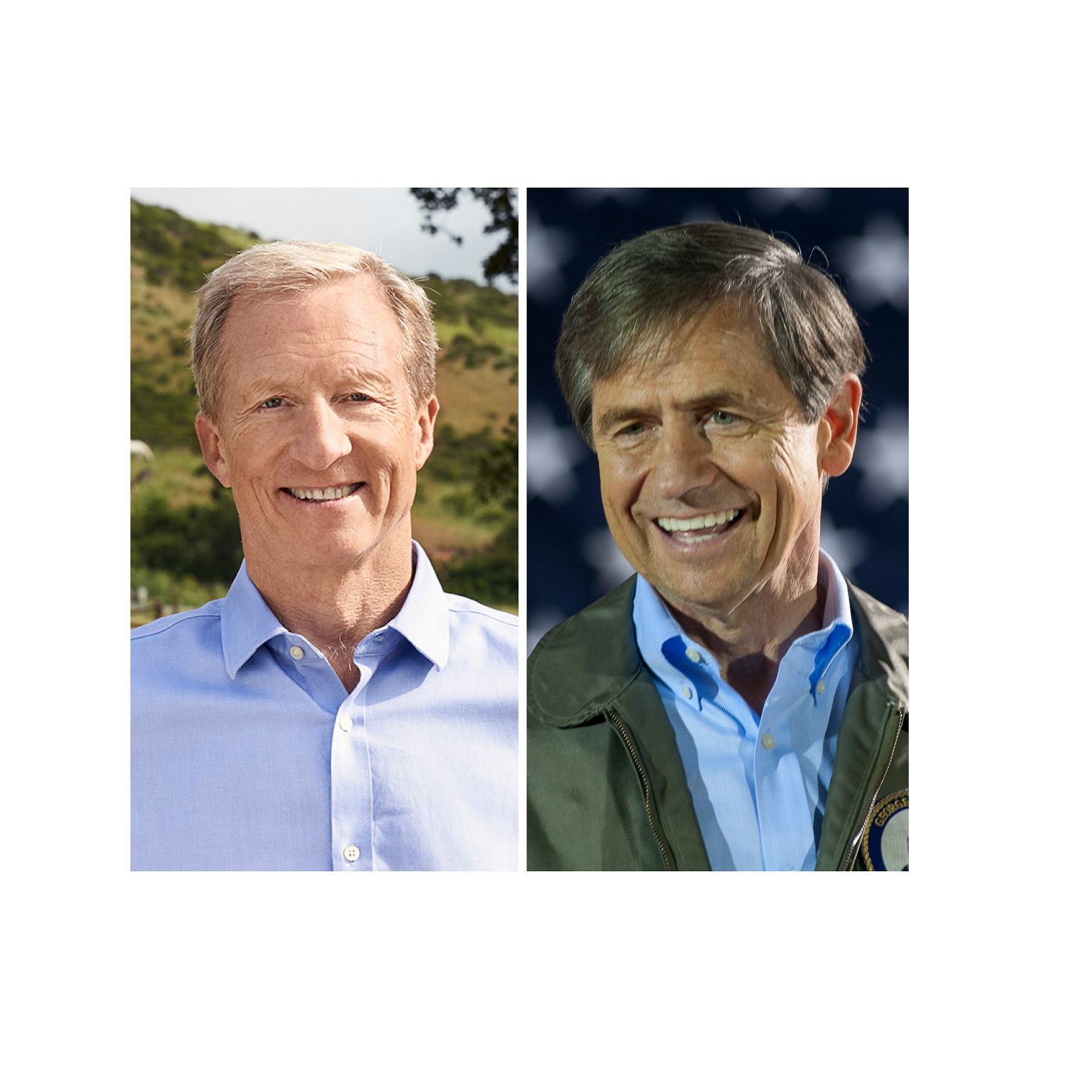 Tom Steyer (left) and Joe Sestak (right) are the newest Democratic 2020 presidential candidates.