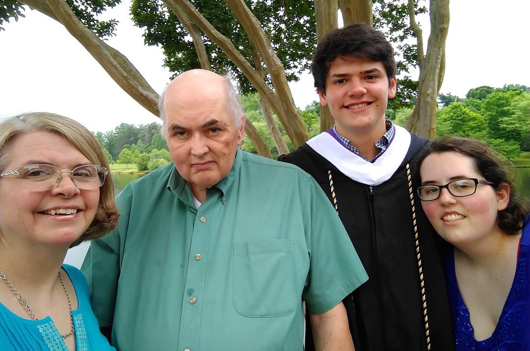 Karen Kedrowski with her family on her son's college graduation day. May 2019.