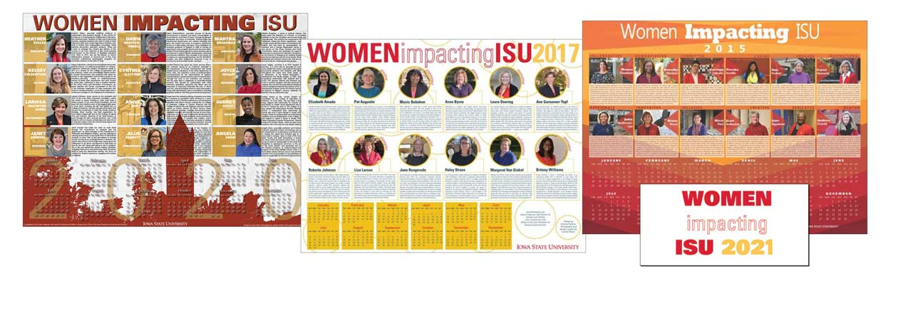 Nominations due Sept. 25 for 2021 Women Impacting ISU calendar