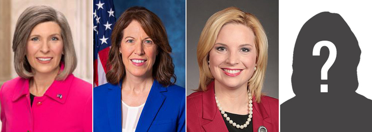 Photos of the women in the 2021 Iowa congressional delegation