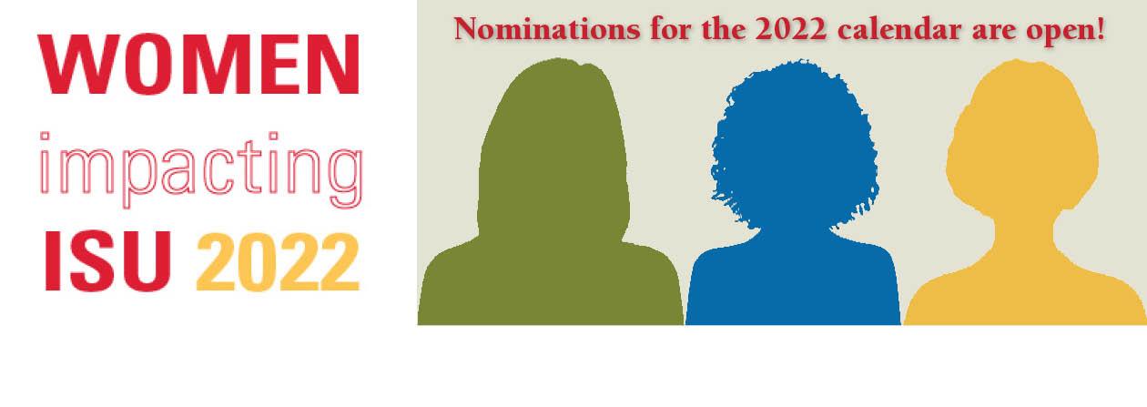 Nominations for 2022 Women Impacting ISU calendar due Sept. 24