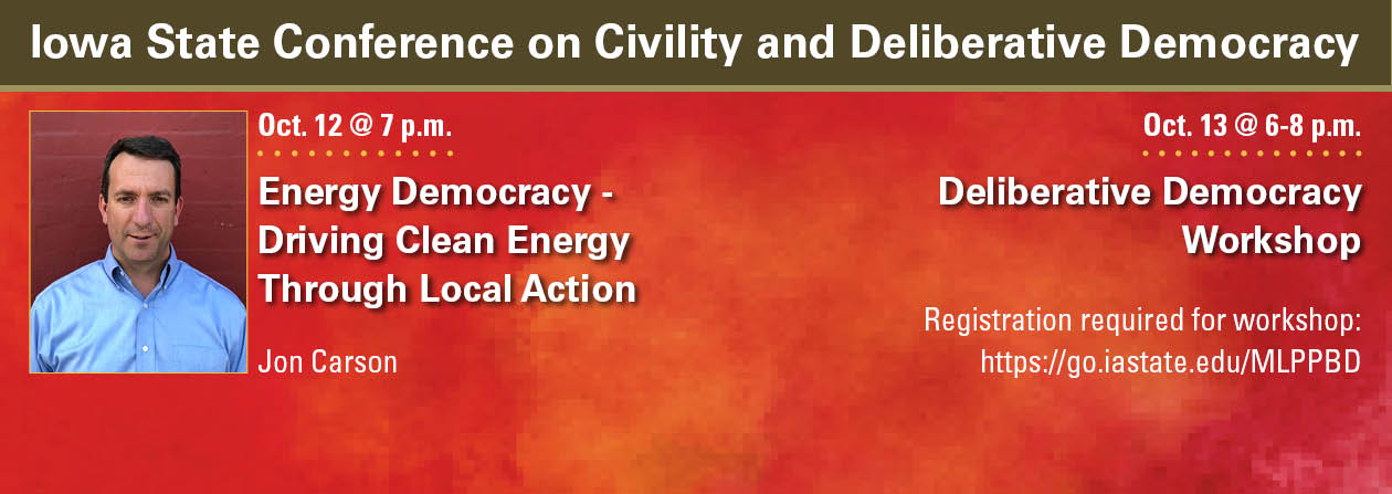 Catt Center hosting conference on deliberative democracy on Oct. 12-13