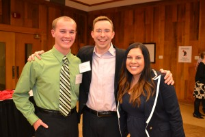 CLPS seniors Alex Salmon and Isabela Cortés pose with instructor Clint Stephens.