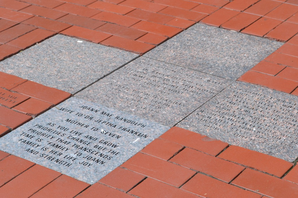 The new treatment for pavers stands out against the worn pavers that have been damaged over the years from Iowa
