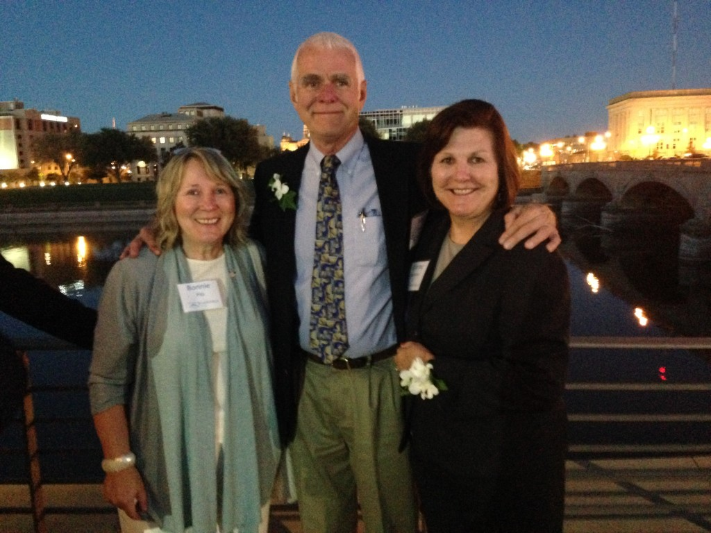 Bonnie Pitz, Tim Lane and Dianne Bystrom attended the dedication ceremony.