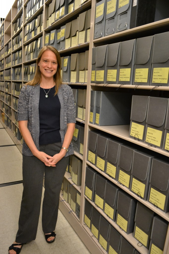 Laura Sullivan, collections archivist at Iowa State University
