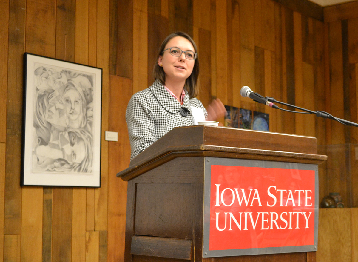 "A panelist shares insights on her board experience at the Feb. 13 workshop, ""Political Appointments and Advocacy."""