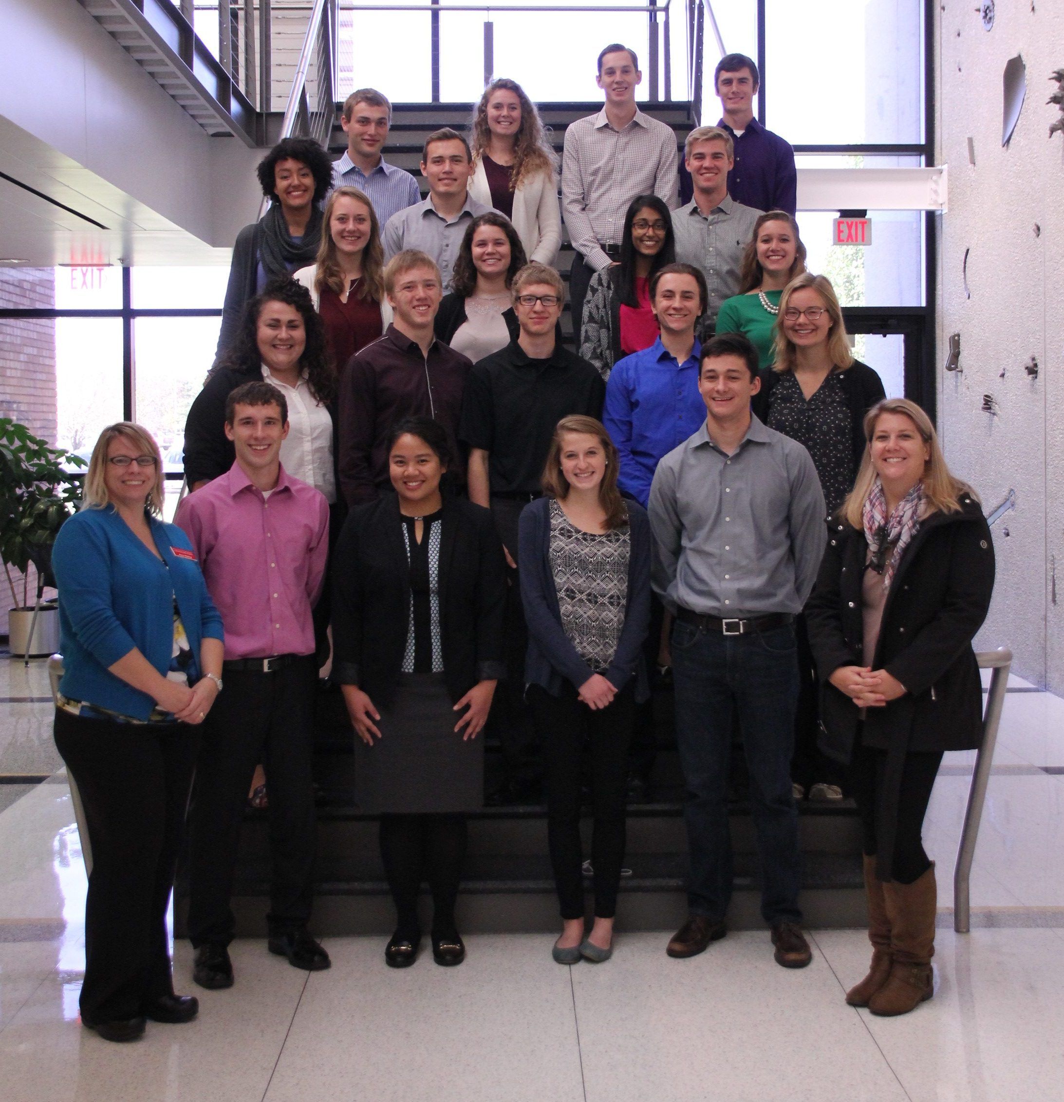 Pilcher and Edberg and members of the 2016-17 VILP cohort visited Vermeer corporate headquarters in Pella, Iowa.