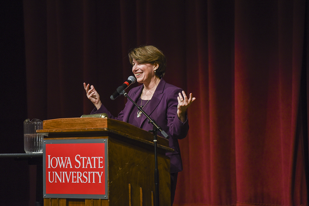 Sen. Amy Klobuchar discusses the importance of being tenacious to earn leadership and political opportunities.