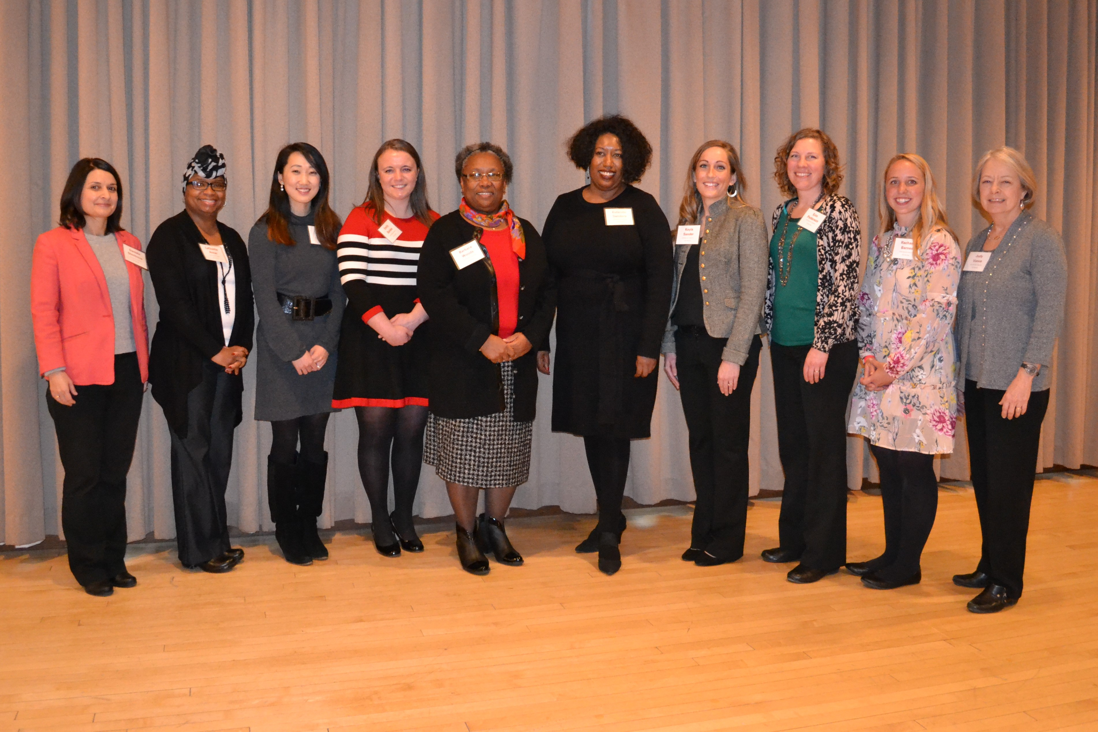 2018 honorees, left to right: Daniela Dimitrova, LeQuetia Ancar, Stacy Ko, Emily Barske, Barbara Woods, Eulanda Sanders, Kayla Sander, Erin Pederson, Rachael Barnes and Judy Vance. Not pictured: 2018 honorees Monica Howard and Sherri Angstrom.