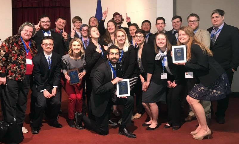 Iowa State University students at the Midwest Model European Union competition at Indiana University - Bloomington.