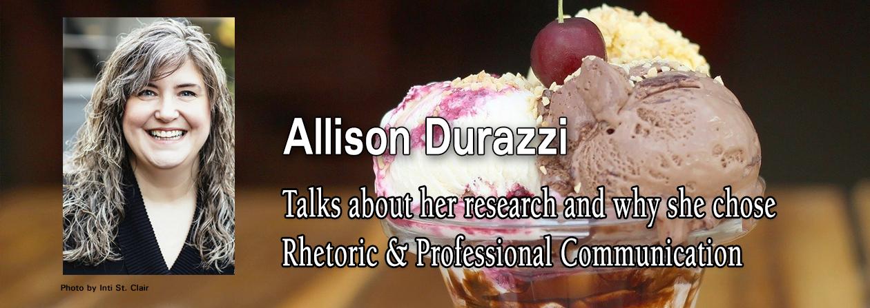 Allison Durazzi portrait and a bowl of ice cream