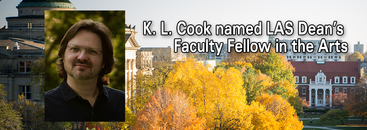Photo of K.L. Cook who was named LAS Dean's Faculty Fellow in the Arts