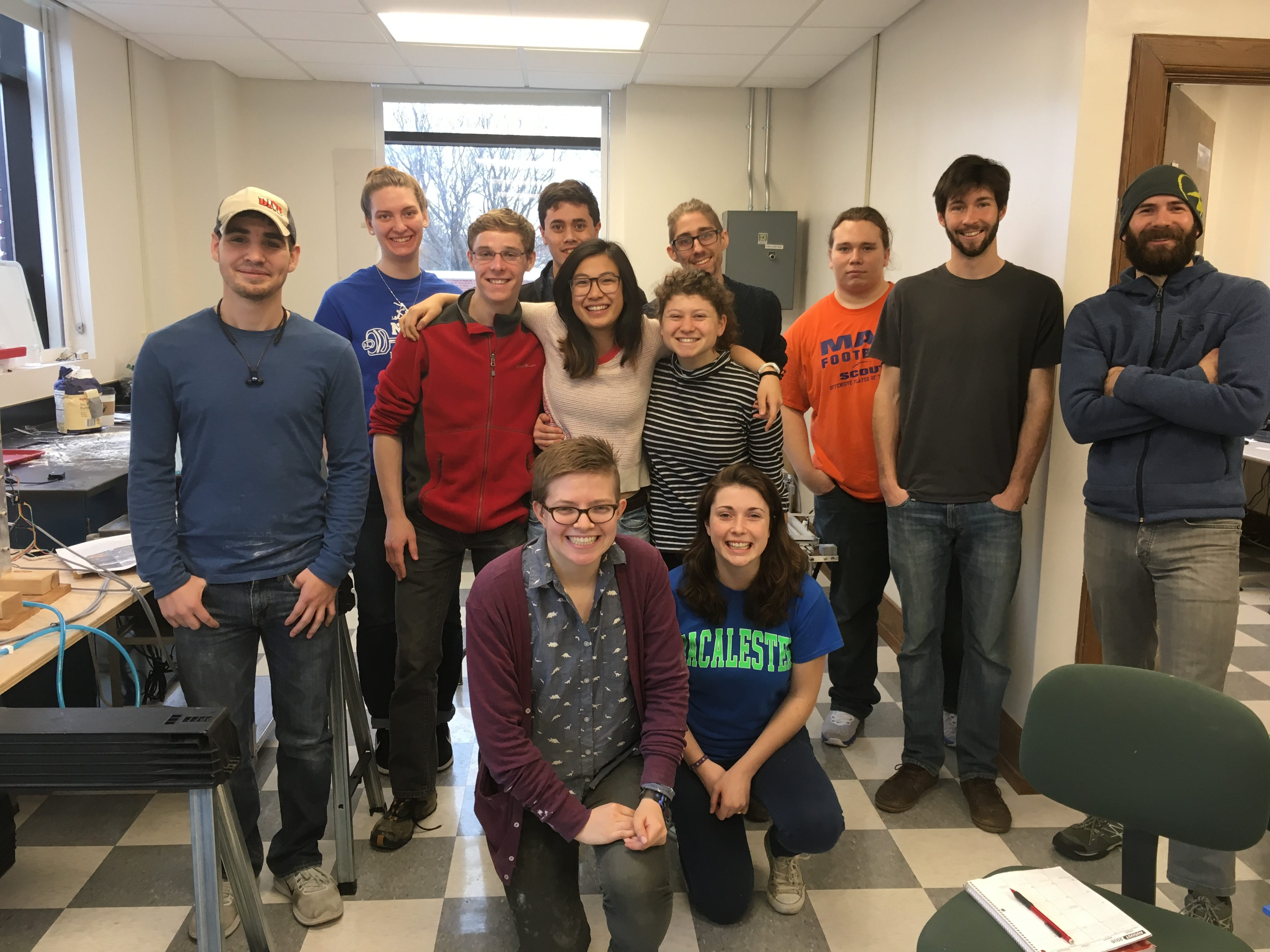 Zach and Jeremy with Dr. Chapman and the Mac Structure class at the end of a long day of experiments.