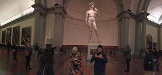 The ISU group visited the Academia Gallery in Florence and found themselves in the unusual situation to see Michelangelo