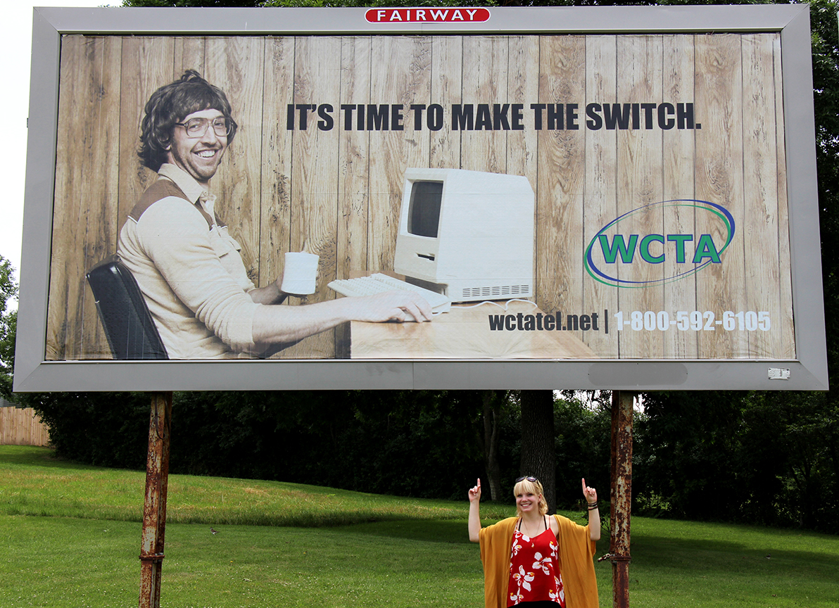 As a marketing intern at Winnebago Cooperative Telecom Association, Brooke Tesdall designed her first billboard.