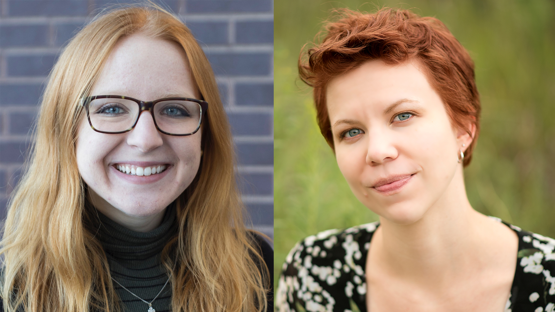 Collage photo of two women. Emily Blobaum, on left, and Ally Karsyn, on right.