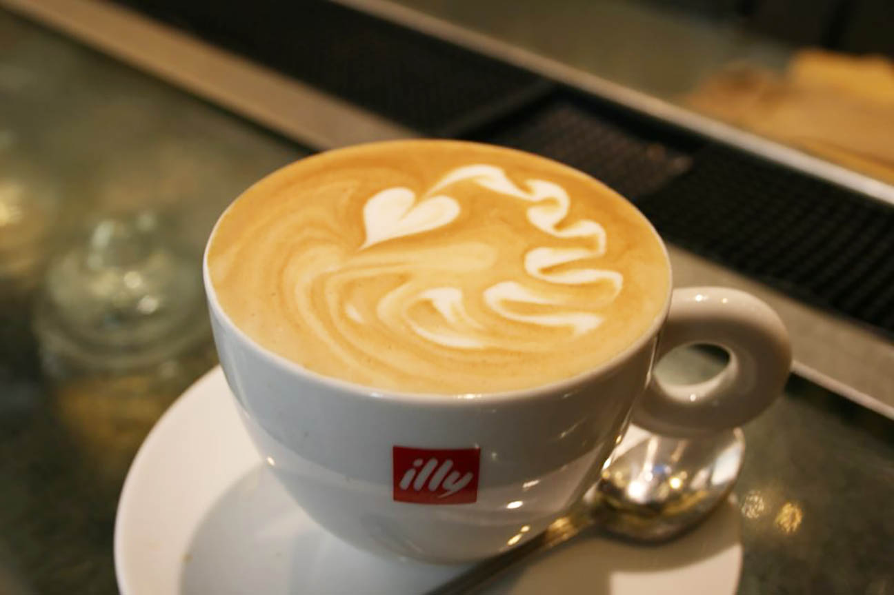 Friends Café in Rome prepared a beautiful cappuccino on an afternoon visit between classes during a site visit. All over Italy you can find all different cappuccino art. Photo by Rachel Cessna