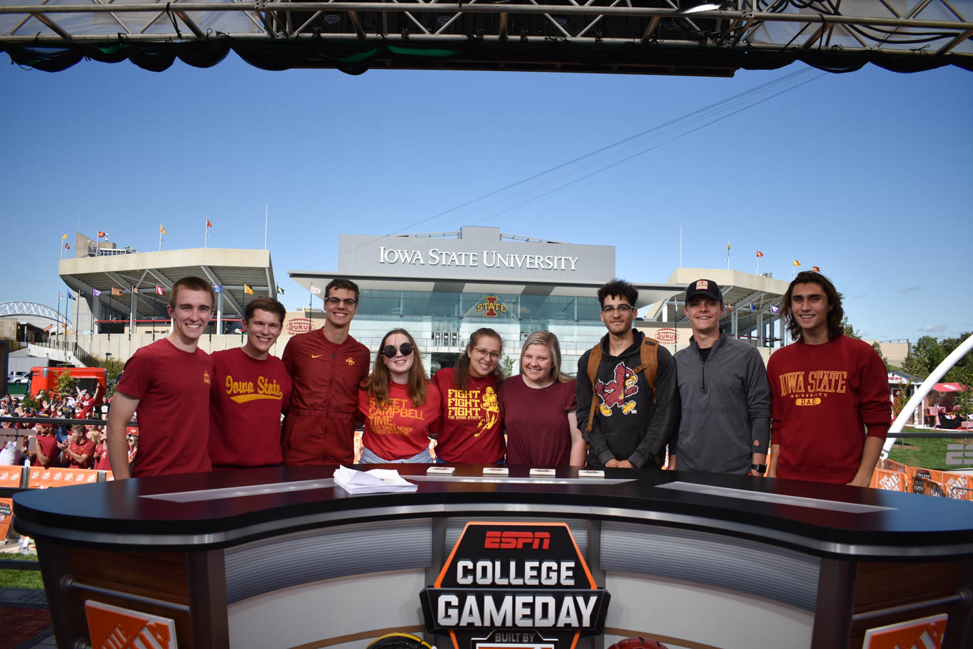 College Gameday Group Shot