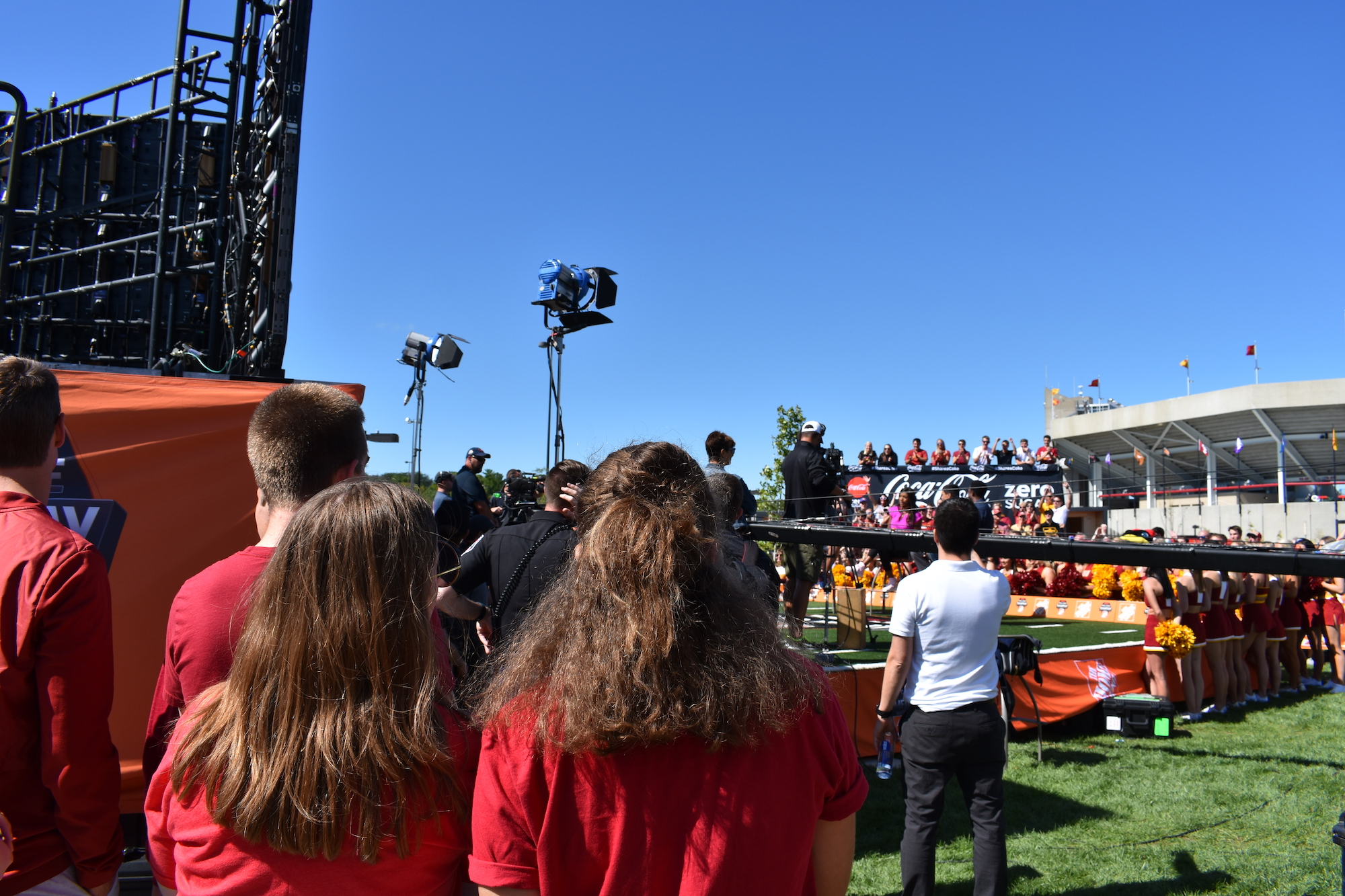Students at the filming of College GameDay Live
