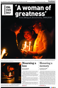 three people holding candles and crying