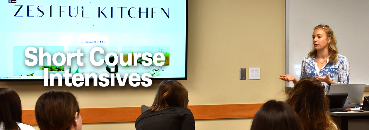 Blogger Lauren Grant instructing students