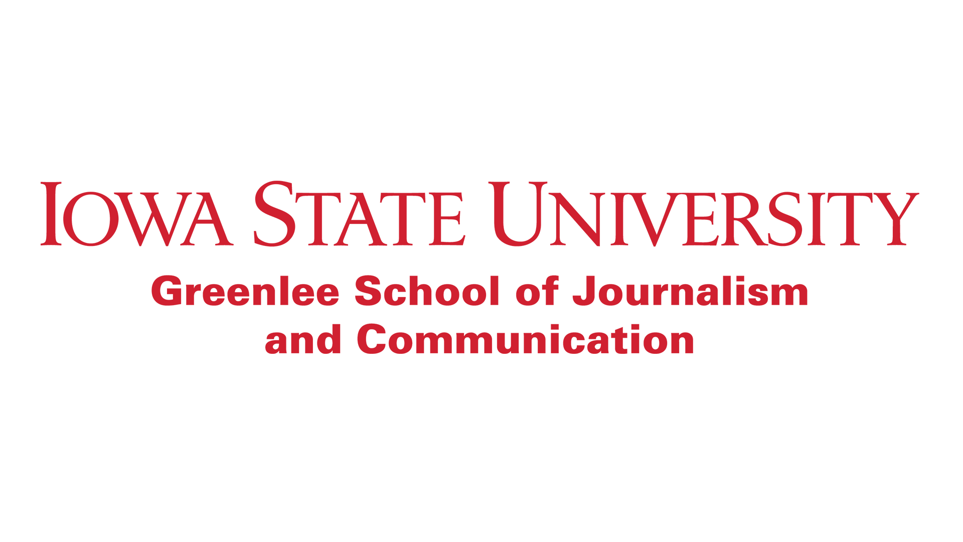 Iowa State University Greenlee School wordmark