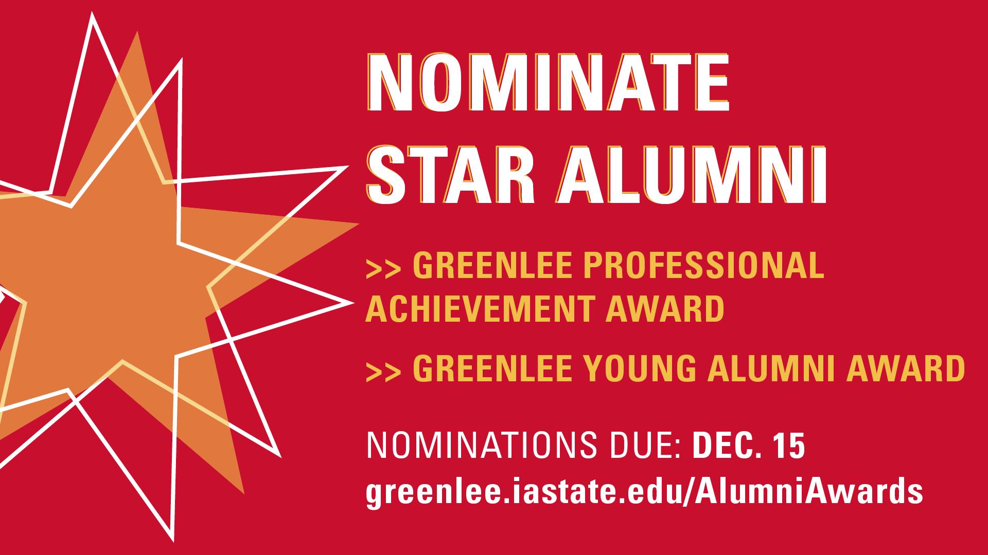 Nominate Star Alumni by Dec. 15, 2021