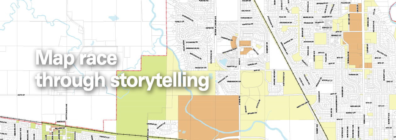 Mapping race through storytelling on map