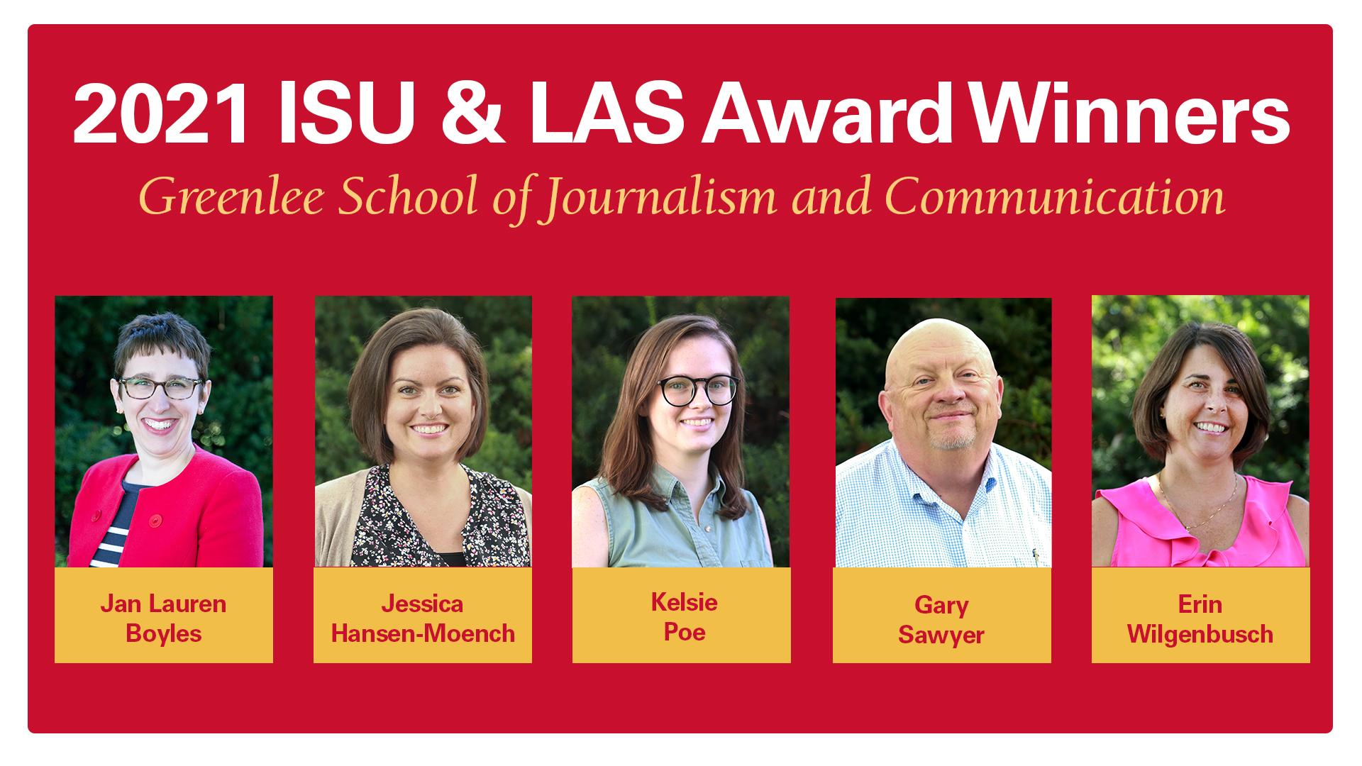 2021 LAS Award winners