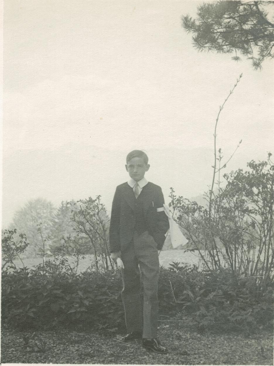 Robert de la Rochefoucauld as a child in France.