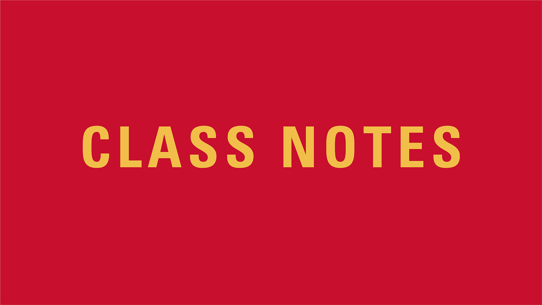 Class Notes graphic