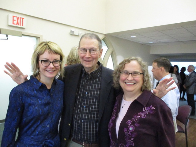 Dru Frykberg, Tom Emmerson and Maureen Deisinger