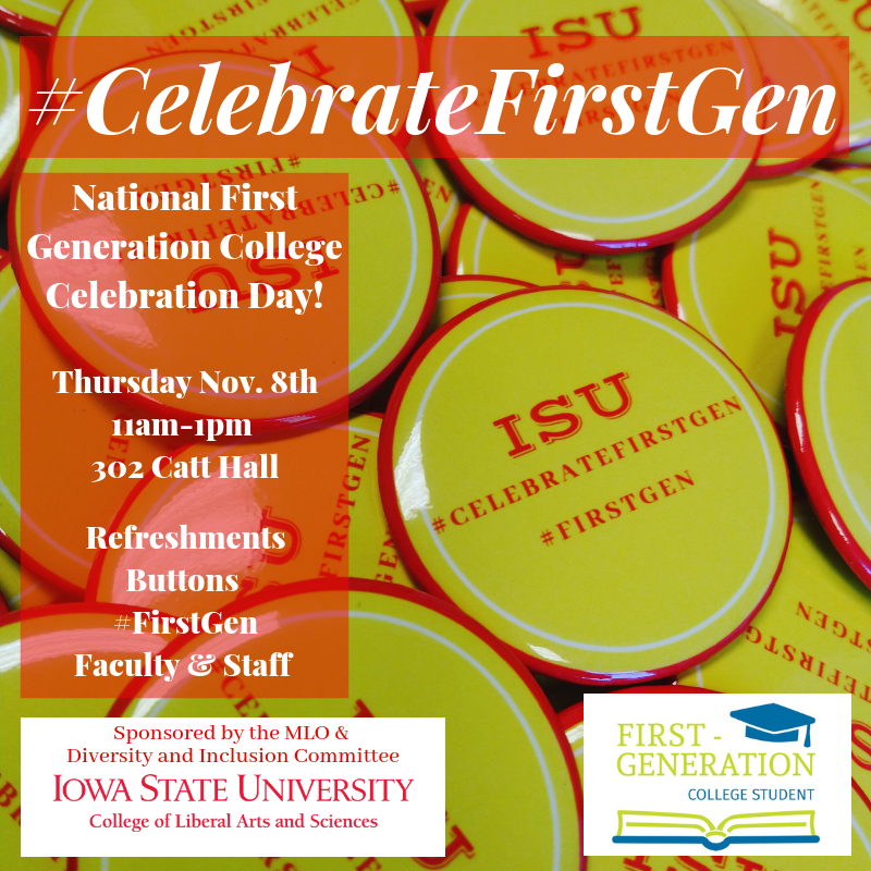 #celebrateFirstGen flyer