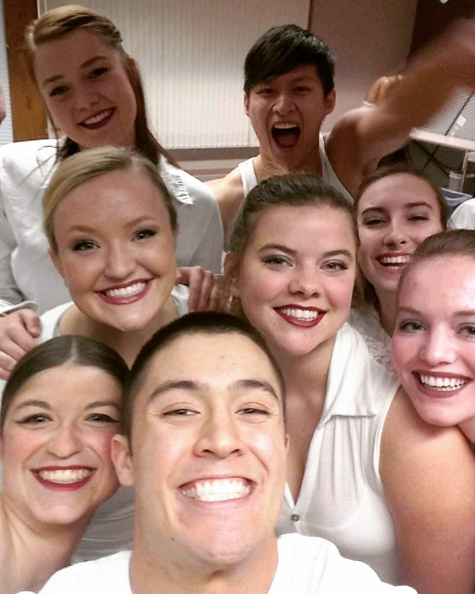 """Orchesis I Dance Company members in """"The Rambler"""" from the Joe Goode Performance Group."""