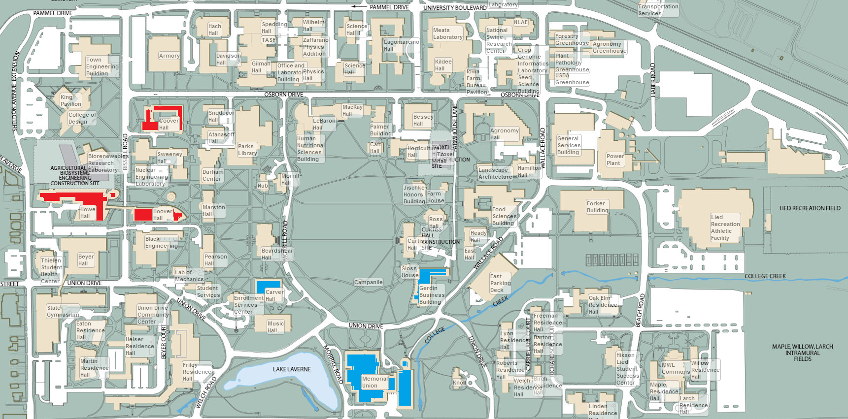 Make sure to grab a campus map so you know where you