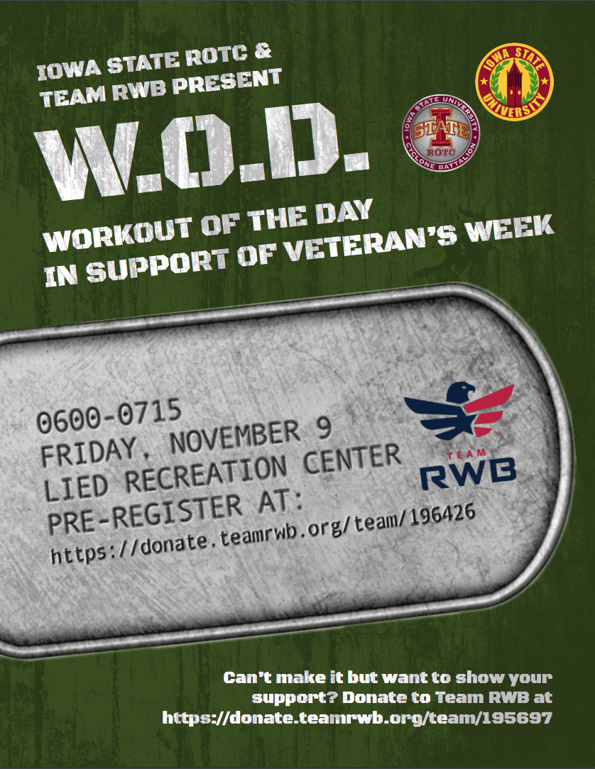 Flyer for Warrier workout day Nov. 9 at 6am