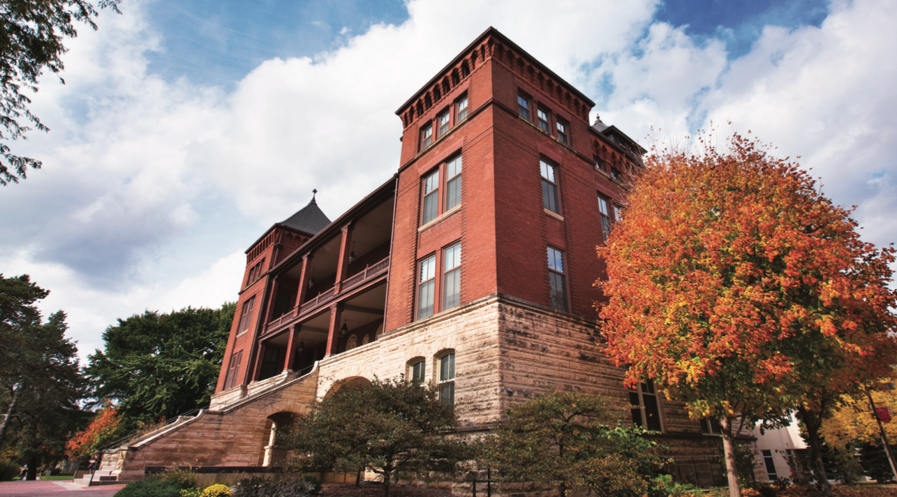 Catt Hall in the fall