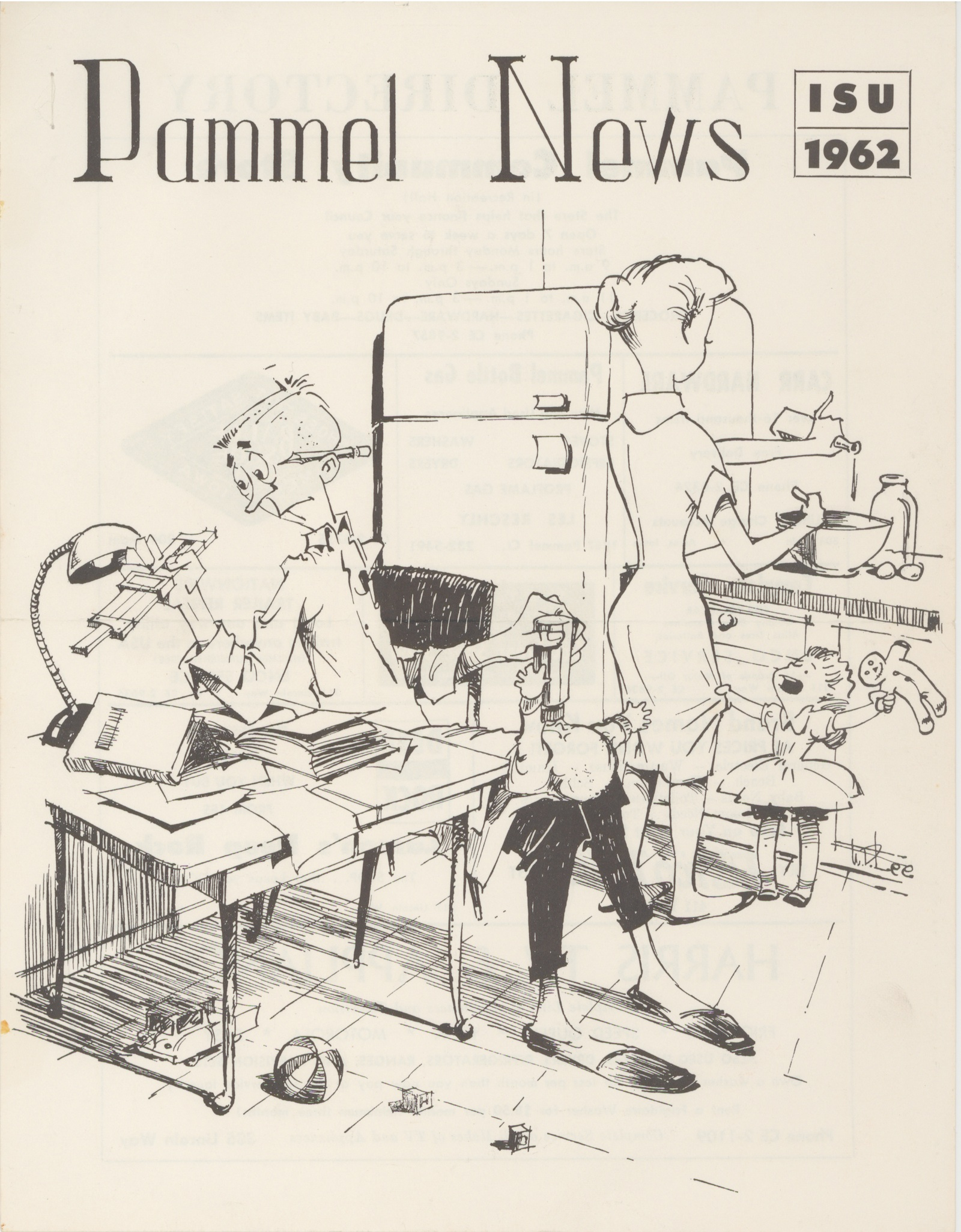 Illustrated cover of the Pammel News 1962.