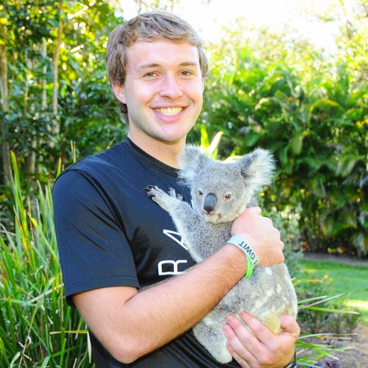 Allen Shahan ('18 mathematics) studied abroad at Deakin University in Australia. This photo was taken at Australia Zoo in Beerwah, Queensland.