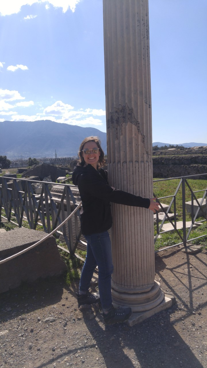 Ellie Clark ('18 psychology) studied abroad in Pompeii, Italy. This photo was taken during an extra trip while studying in Geneva, Switzerland, as a EuroScholar.