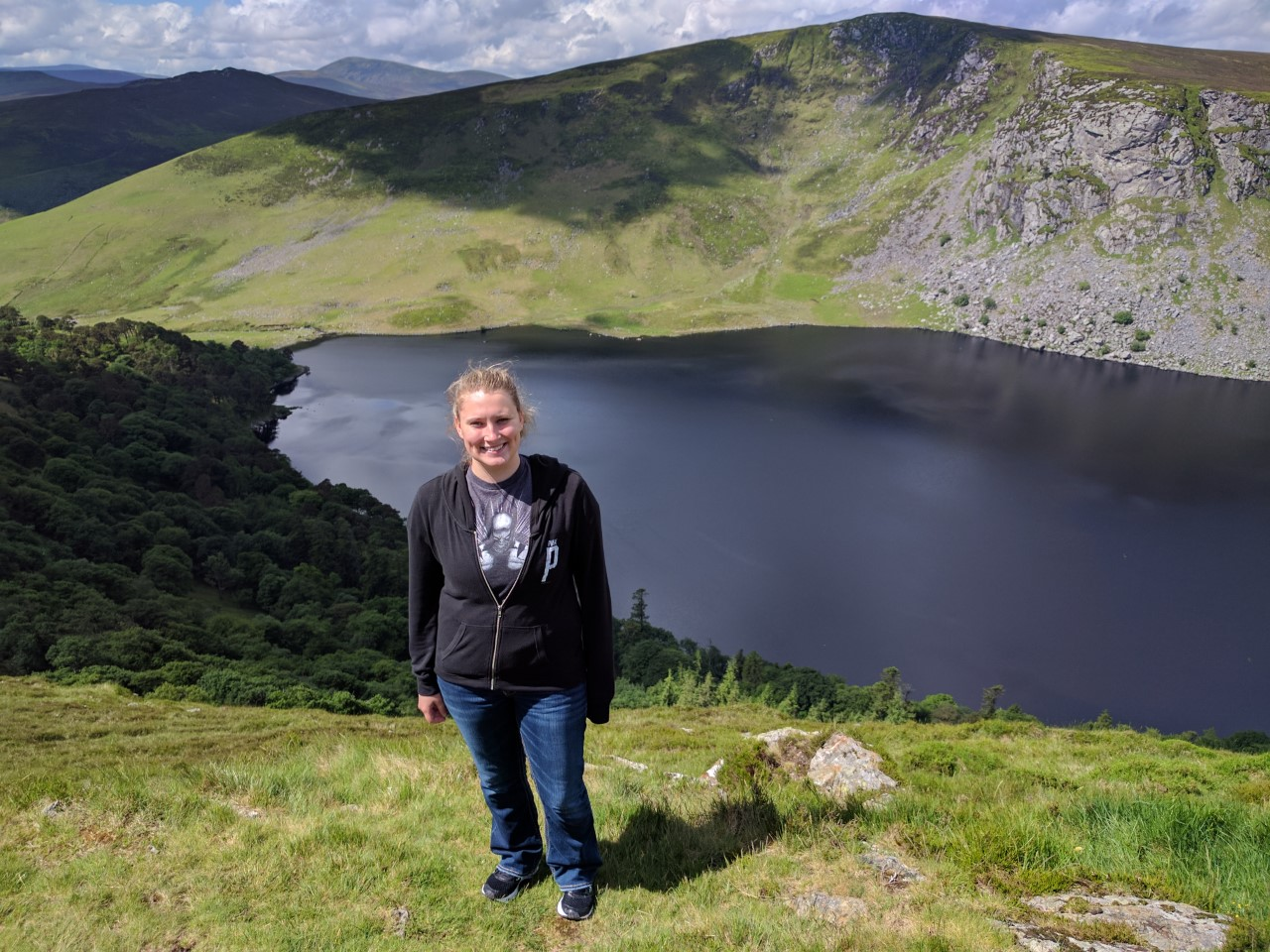 Haley Bailey ('18 political science and criminal justice) took part in the intern abroad program in Dublin, Ireland. This photo was taken at Lough Tay (Guinness Lake) in County Wicklow, Ireland.