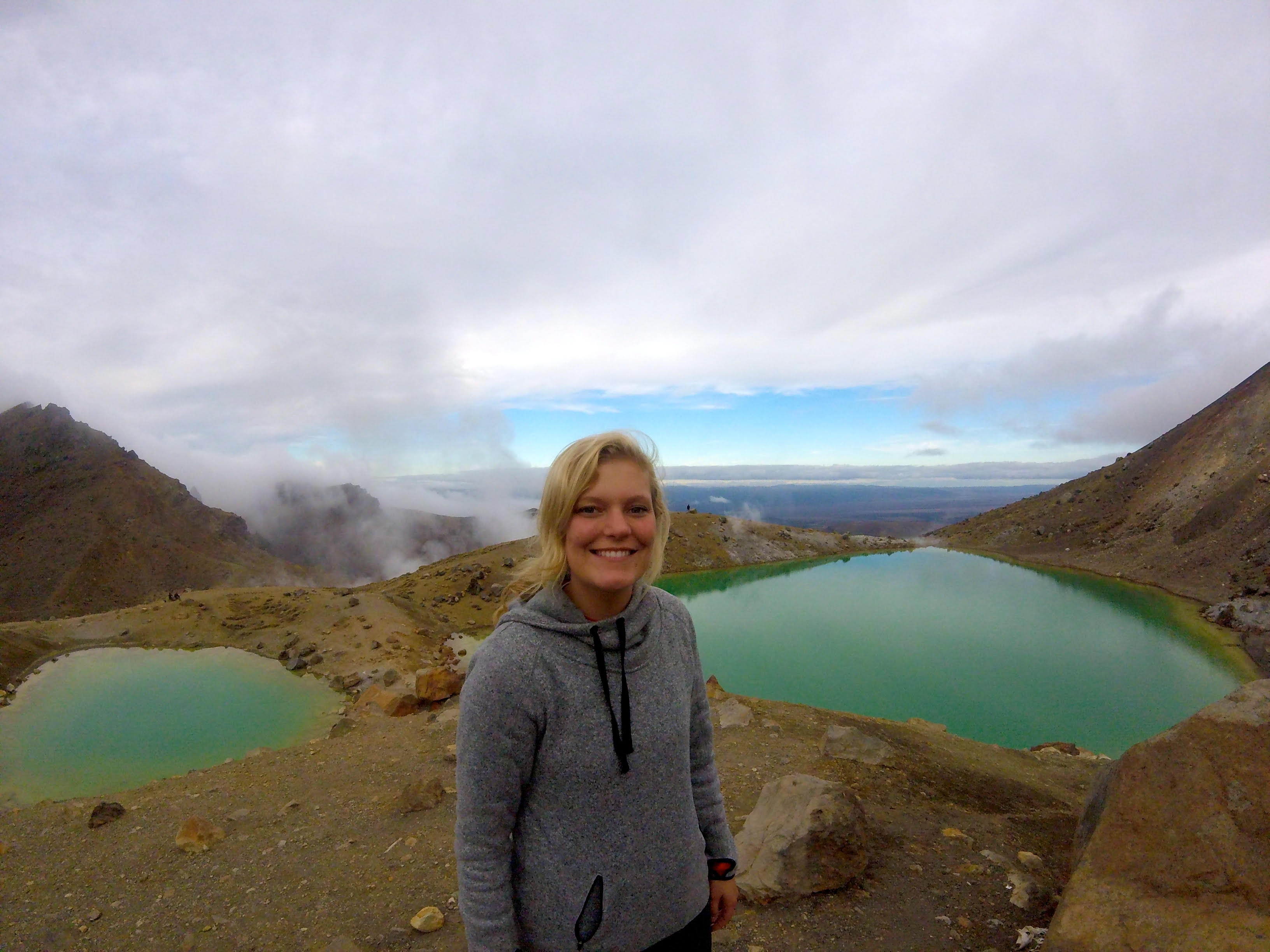 Kim Ferguson ('18 psychology and statistics) studied at Deakin University in Australia. This photo was taken on the Tongariro Alpine Crossing in New Zealand.