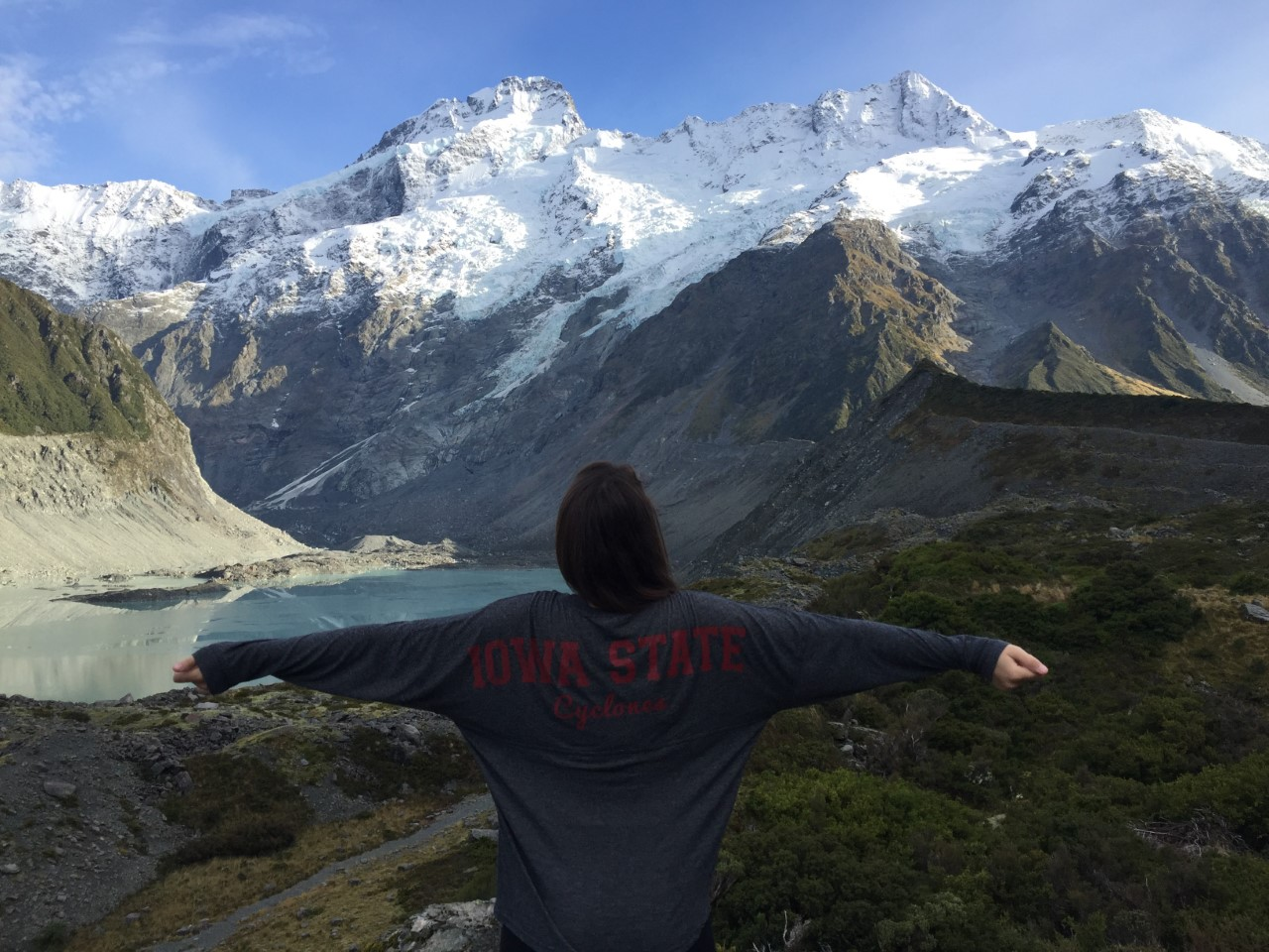 This photo was taken in Aoraki Mount Cook National Park, New Zealand. Laurel Baar ('19 statistics) studied at the University of Otago, Dunedin in New Zealand.
